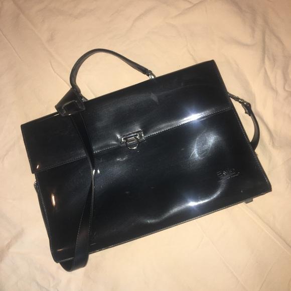 Beijo Handbags - Beijo Black Brief Case/Laptop Bag